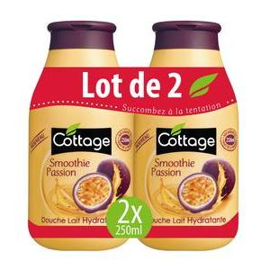 2 gels douche smoothie Cottage - 250 ml