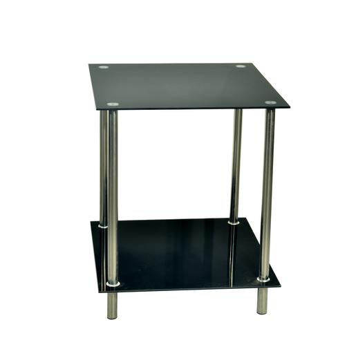 Table basse d appoint - Verre - Métal - Noir - Meubles de salon   La ... 041068fc2c50
