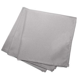3 serviettes de table unies Essentiel - L 40 x l 40 cm - Gris