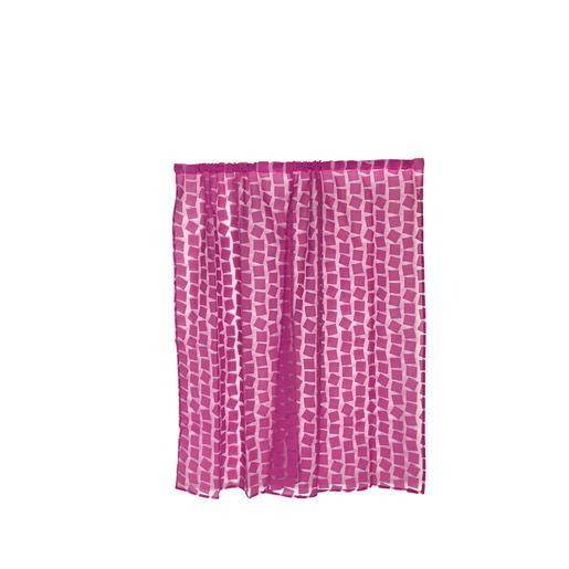 Paire de vitrages organza - 60 x 90 cm - 60 % Polyester 40 % Polyester - Prune