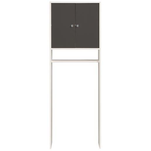 meuble entourage wc gris blanc - meubles salle de bain | la foir