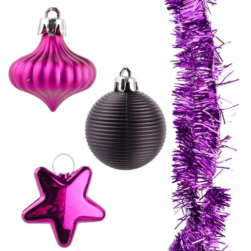 Décoration De Noël Violet Décoration De Sapin De Noël La Foir