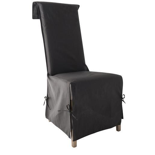 Housse Chaise En Coton 40x40x72cm Grise