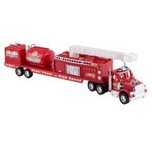 Camion de pompier à friction - Plastique - L 58 cm - Rouge