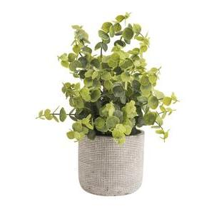 Plante artificielle en pot ciment - ø 19 x H 31.7 cm