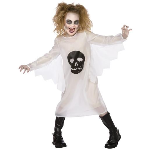 fe97d1abdd3 Déguisement pour enfant fantôme - Taille 4 à 12 ans - Blanc