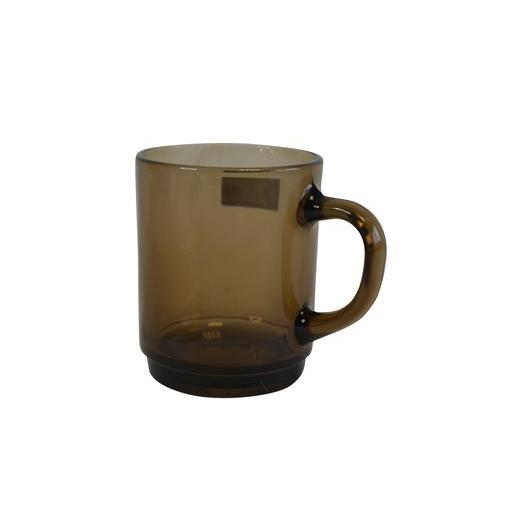 Mug Versailles en verre - 25 cl - Marron transparent
