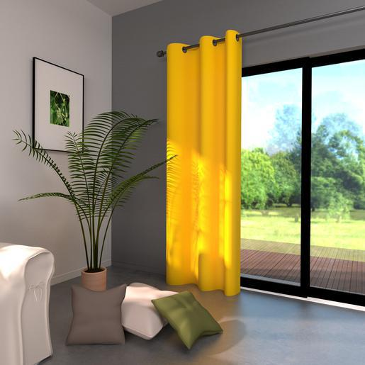 double rideau jaune