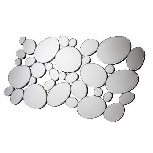 miroir en forme de galets 60 x h 30 cm blanc miroirs ForMiroir La Foir Fouille