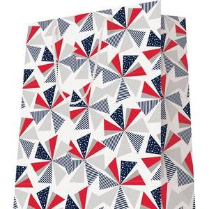 Sac cadeau triangles - 18 x 10 x 23 cm