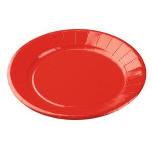10 assiettes jetables rouges
