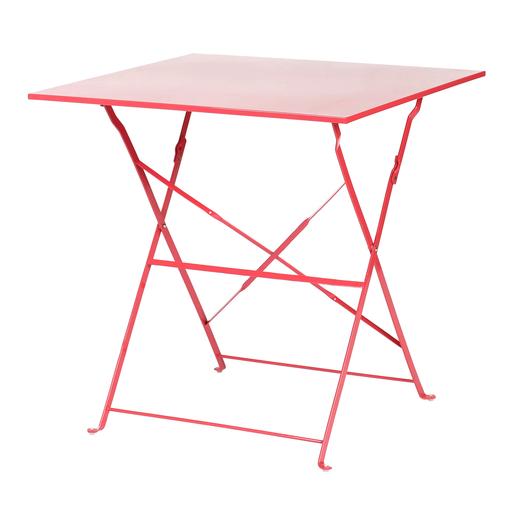 Table pliante - Acier - Rose - Mobilier de jardin | La Foir ...