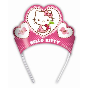 Lot de 6 tiares Hello kitty en latex - 21,5 x 29 cm - Multicolore