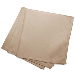 3 serviettes de table unies Essentiel - L 40 x l 40 cm - Beige