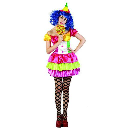 "Costume adulte de clown ""Sexy"" en polyester - L/XL -Multicolore"