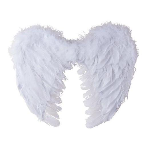 Aile D Ange ailes d'anges - blanc - accessoires costumes halloween   la foir'fouille