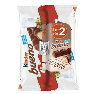 Lot de 2 barres KINDER BUENO - 2 x 86 g