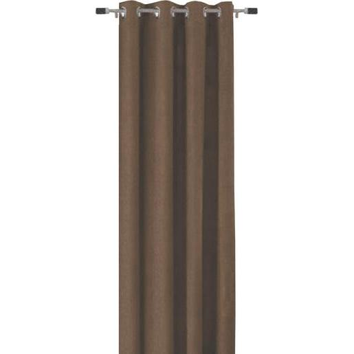 Rideau occultant - 100 % polyester - 135 x 240 cm - Taupe