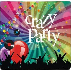 20 serviettes jetables Crazy Party