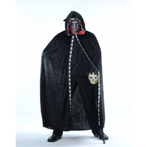 Cape halloween adulte velours - Taille unique - Noir