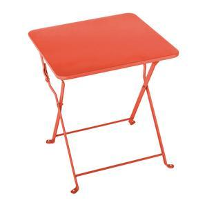 Table d'appoint Diana - 40 x 40 x H 45 cm - Orange corail