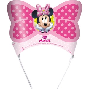 Lot de 6 tiares Minnie Bow-tique en latex - 21,5 x 29 cm -Multicolore