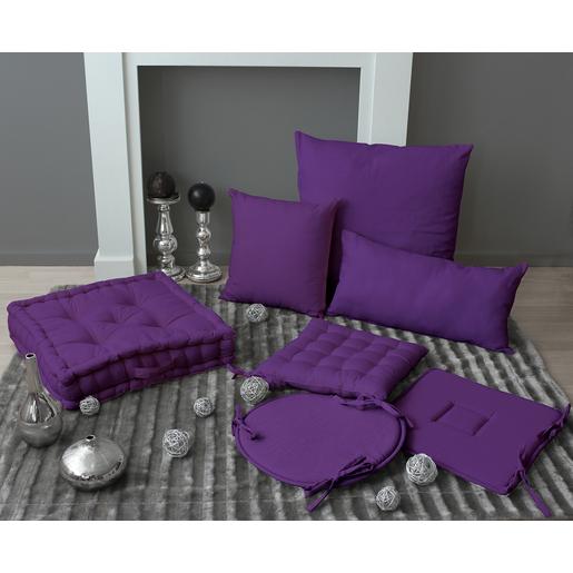 Coussin - coton - Violet - Coussins et housses