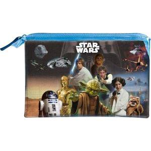 Trousse plate Star Wars - Pvc - 25 x H 15 cm - Multicolore
