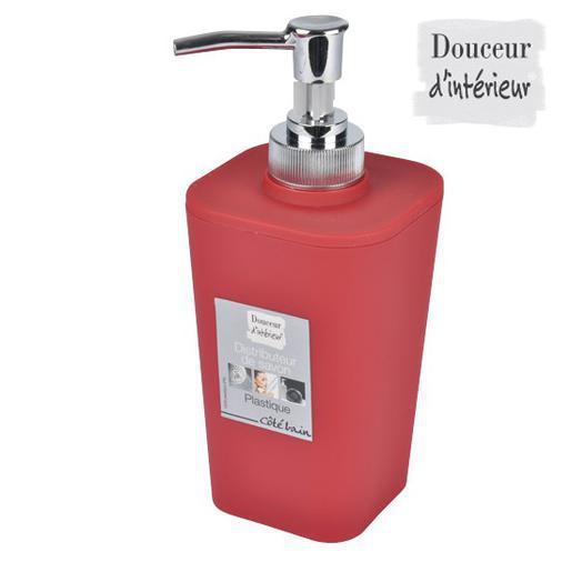 Distributeur - Plastique - Rouge - Accessoires salle de bain ...