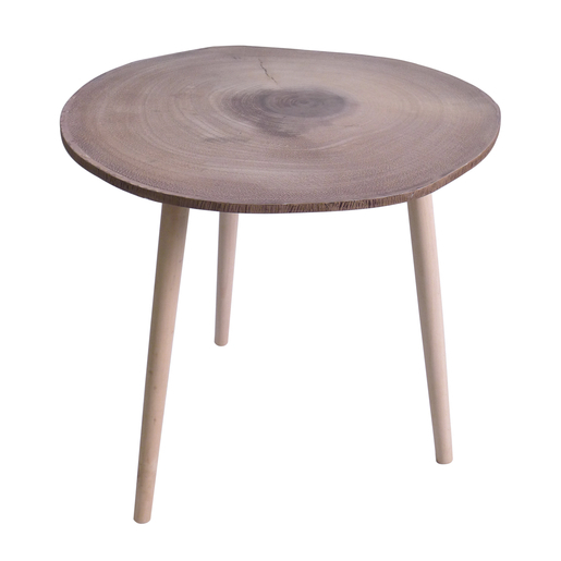 Table Basse Rondin De Bois.Table Basse Marron Meubles De Salon La Foir Fouille