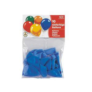 Lot de 10 ballons - Latex - 25 cm - Bleu