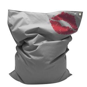 Coussin XXL Glamour - 100 % polyester - 100 x 140 cm - Gris