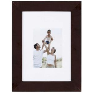 Porte-photo Optimo en MDF - 34 x 28 cm - Marron - Wenge