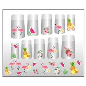 Stickers ongles tropical