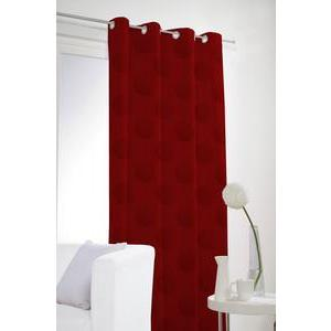 Rideau occultant - 100% polyester - 140 x 240 cm - Rouge