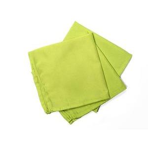 Lot de 3 serviettes de table Alix anis
