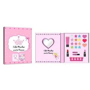 Coffret à maquillage Princesses - - 19 x 3 x H 15 cm- Rose