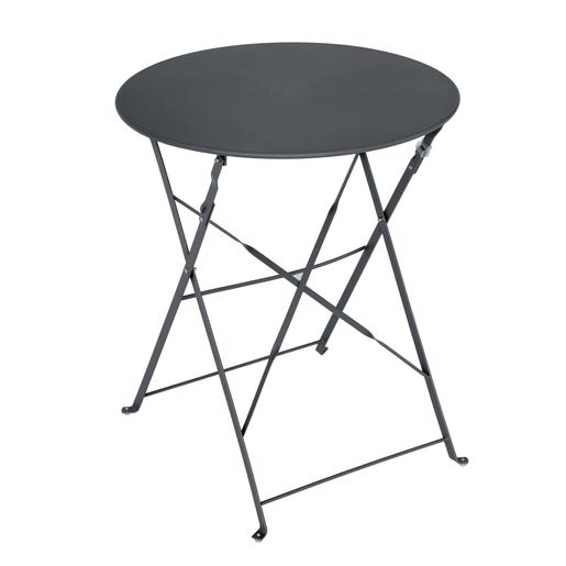 Table Diana ronde - Gris - MOOREA - Mobilier de jardin | La Foir\'Fouille