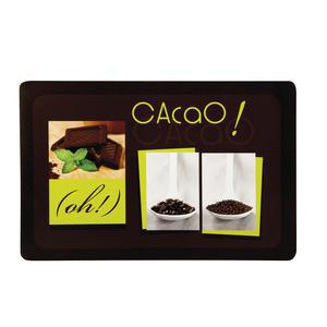 Set de table opaque chocolat - PVC - 30 x 45 cm - Multicolore
