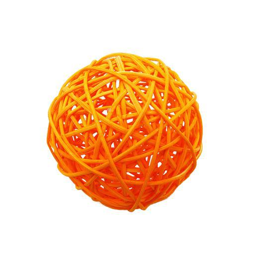 2 boules décoratives en rotin - ø 6 cm - Orange