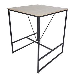 Table de bar Esther - 80 x H 98 x 80 cm - Marron, noir