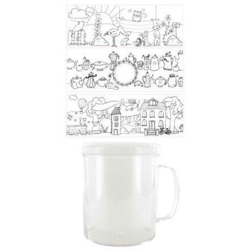 Connu Mug à décorer - Plastique - Blanc - Loisirs créatifs | La Foir'Fouille SN89