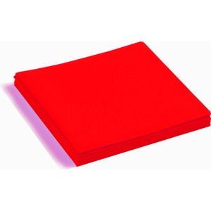 Lot de 25 serviettes voie sèche - 40 x 40 cm - Rouge