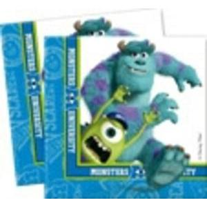 Lot de 20 assiettes Monsters university en pate de cellulose - 33 x 33 cm - Multicolore