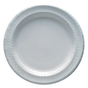 Lot de 12 assiettes en carton - 29 cm - Carton - Blanc