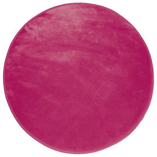 Tapis velours rond - ø 90 cm - Rose - Tapis déco   La Foir\'Fouille