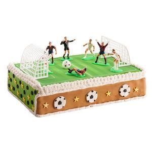 Figurine pour pâtisserie Football - PVC - 6,5 cm - Multicolore