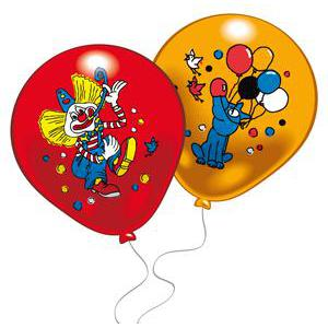 Lot de 8 ballons clowns - Latex - 25 cm - Multicolore