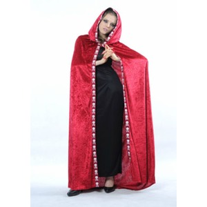 Cape halloween adulte velours - Taille unique - Rouge