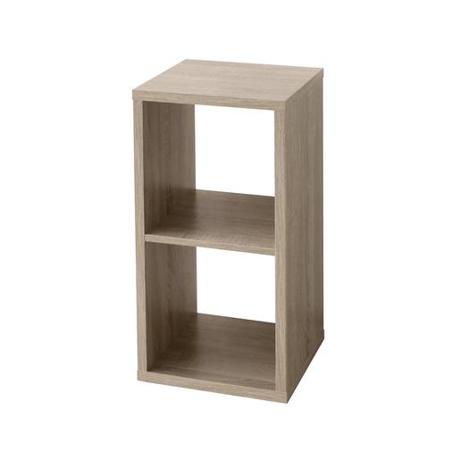 Etagère cube 2 cases - Marron - Meubles de chambre | La Foir\'Fouille